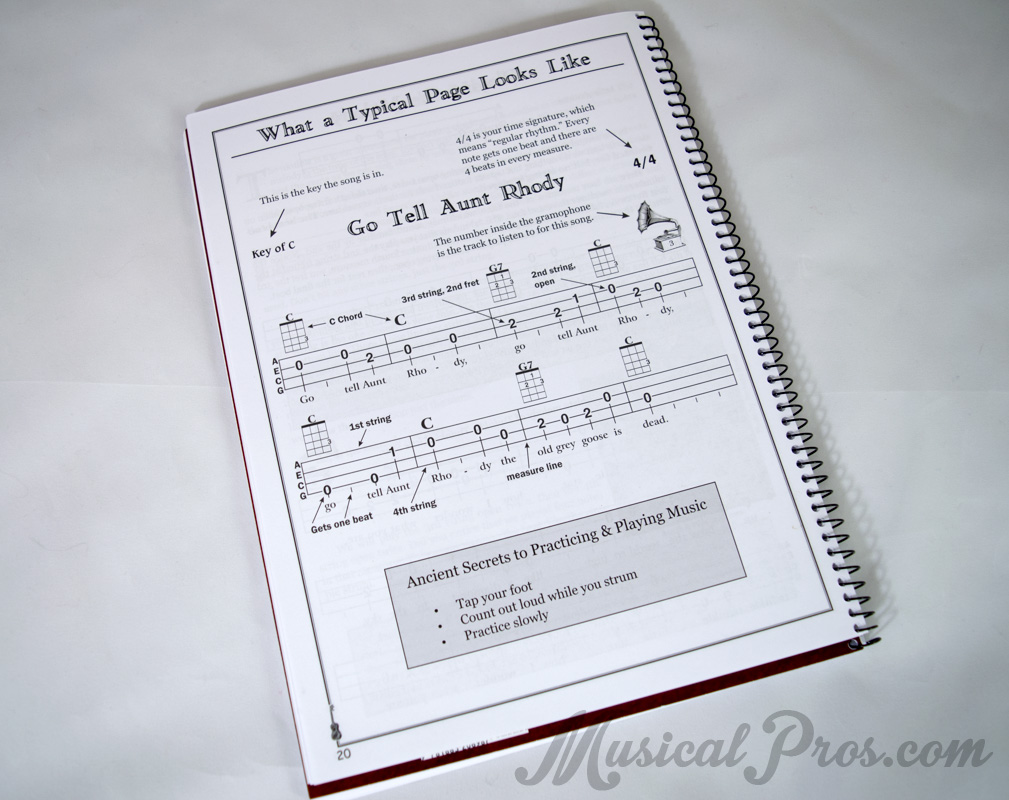 ukulele book review song preview page