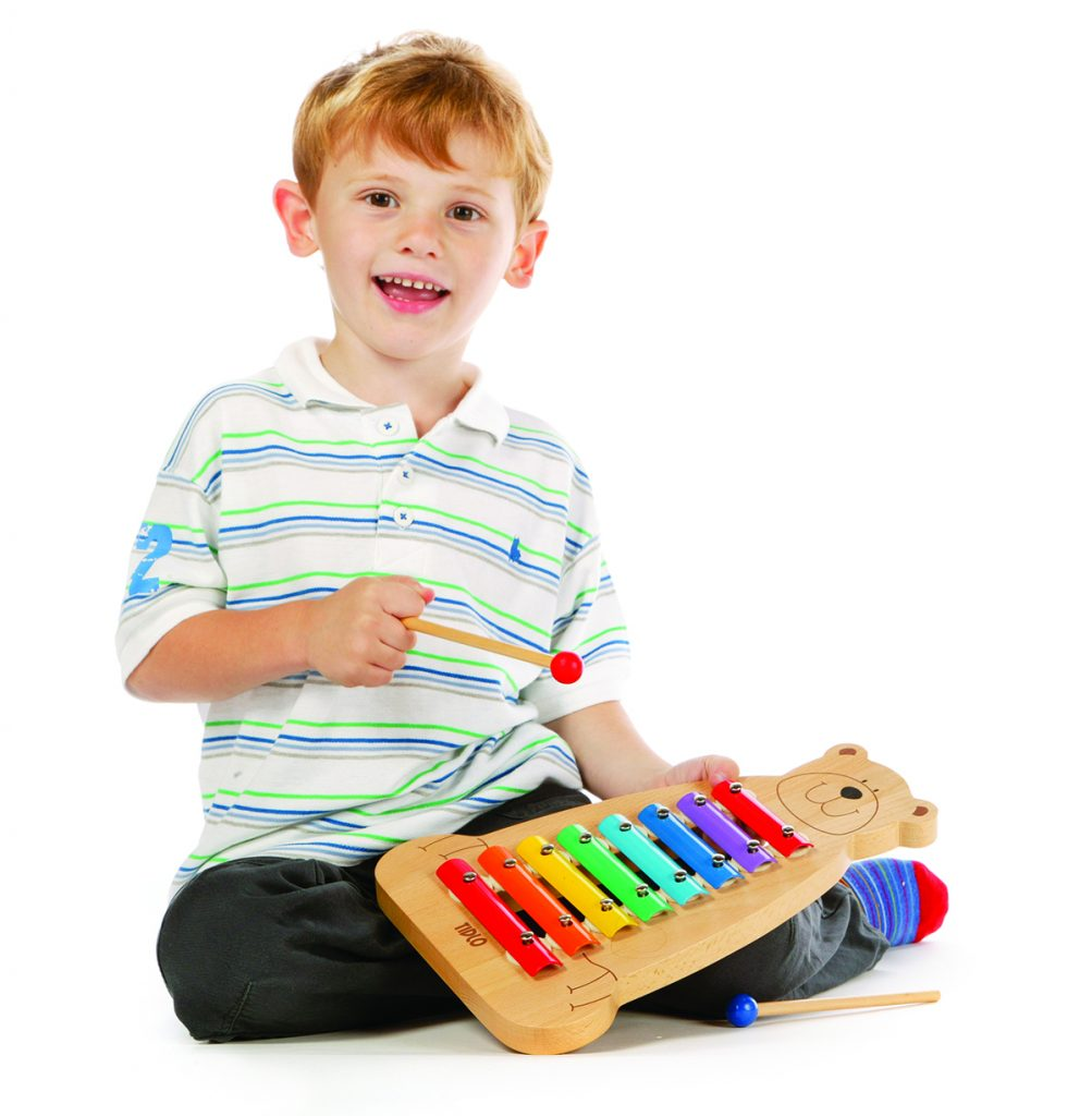 boy with xylophone
