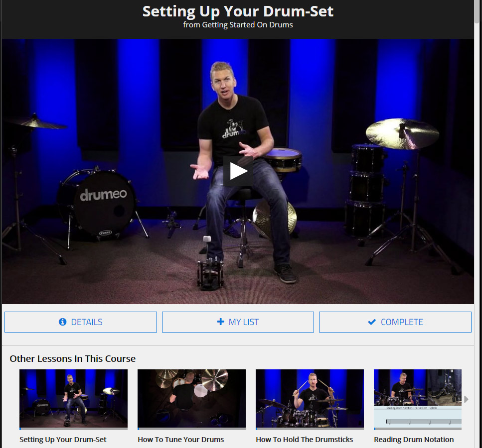 drumeo video example