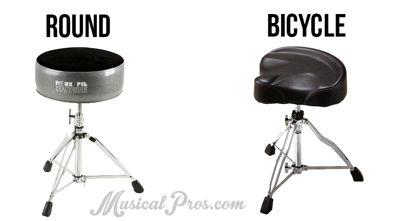 round vs bicycle drum throne